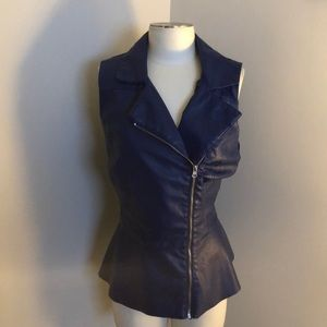 Ashley Stewart leather vest
